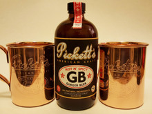 Pickett's #3 'Hot n' Spicy' Ginger Beer Syrup and Copper Mug Combo Pack
