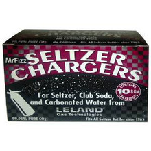 Leland Mr. Fizz 8-gram CO2 chargers (10-pack)