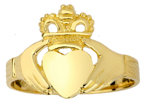 Gold Claddagh Ring - The Traditional Ladies Ring