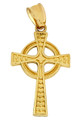 Gold Celtic Cross Pendant from CladdaghGold.com - image