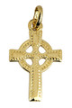 Small Gold Celtic Polished Cross Pendant from CladdaghGold.com - image