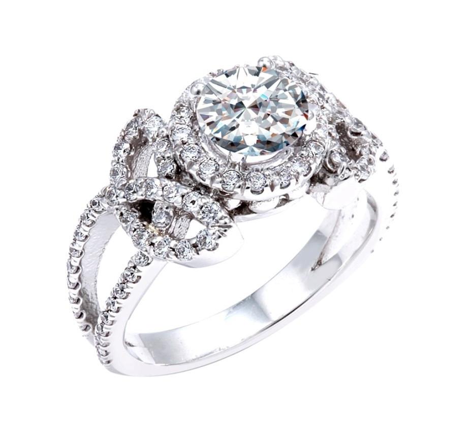 white gold celtic trinity knot diamond wedding ring ct. Black Bedroom Furniture Sets. Home Design Ideas