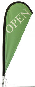 Open Teardrop Flag Green