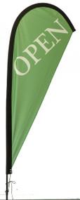 Open Teardrop Flag Green
