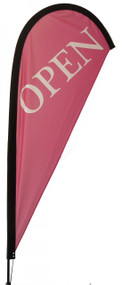 Open Teardrop Flag Pink