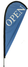 Open Teardrop Flag Blue