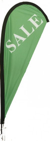Sale Green Teardrop Flag