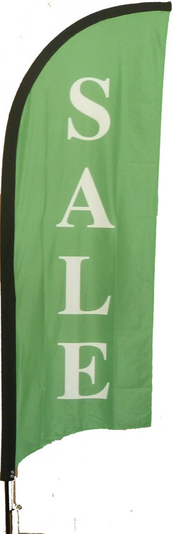 2.42m Single Sided Feather flag and Flag pole kit.