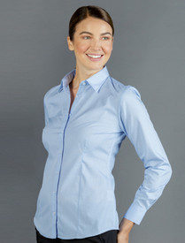 Gloweave Ladies Puppy Tooth Check L/S Shirt