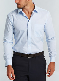 Gloweave Mens Blue Yarndyed Check L/S Shirt
