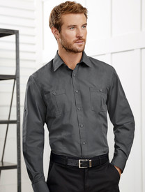 Biz Collection Bondi Mens L/S Shirt