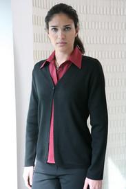 LSJ Collection Black Single Button Cardigan