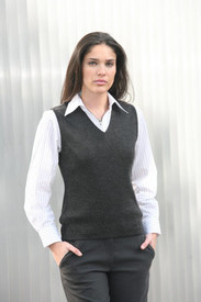 LSJ Ladies Charcoal Knitted Vest