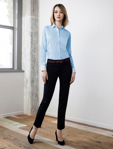 Fifth Avenue Ladies Long Sleeve Shirt with Slim Cut Pant