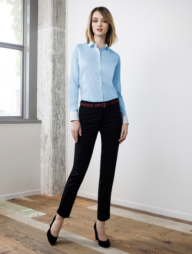 Fifth Avenue Ladies Long Sleeve Shirt with Slim Cut Pant