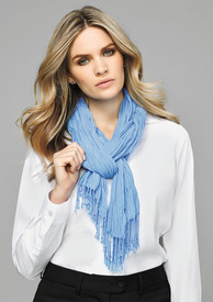 Ladies Monotone Woven Scarf - Discontinued No Returns