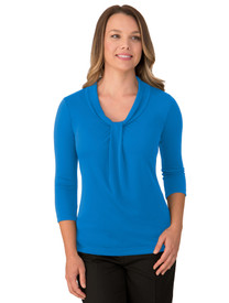 Pippa 3/4 Sleeve Aqua Stretch Top