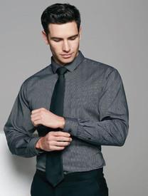 Mens Black/Silver Henley Shirt