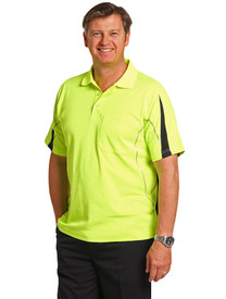 Men's TrueDry Hi-Vis Legend Short Sleeve Polo with Reflective Piping