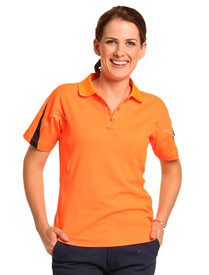 Ladies Legend Polo with Reflective Piping