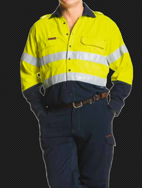 TENCATE TECASAFE PLUS TAPED HI VIS FR VENTED L/S SHIRT