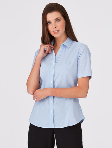 Pinfeather S/S Blue Shirt