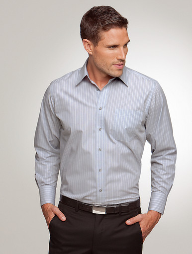 City Collection Shadow Stripe Mens L/S Shirt