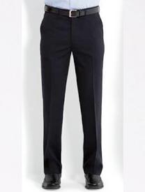 Bongardi Mens Plain Front Flexi-Waist Trousers