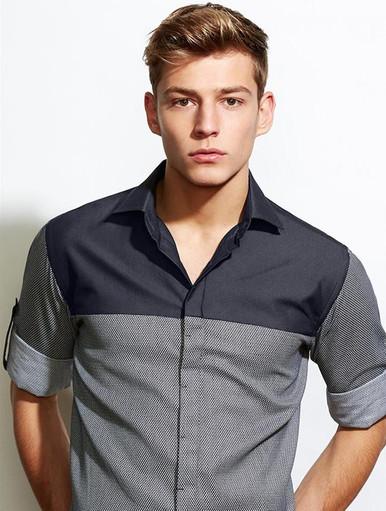 Mens Biz Collection Havana Long Sleeve Shirt