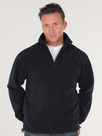 JB's Wear Mens 1/2 Zip Polar Fleece Jumper