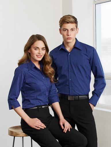 Biz Collection Mens & Ladies Manhattan Stripe  Shirt