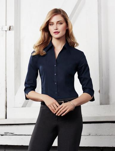 Metro Stretch Shirt Ladies 3/4 Sleeve