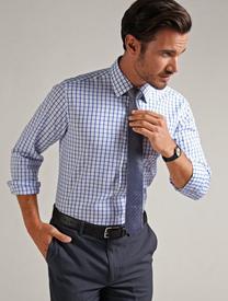 Gloweave Mens L/S Window Pane Check Shirt