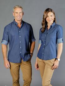 Wellington Polka Dot Denim Shirt