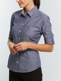 Gloweave Womens Spot Dobby Denim Shirt