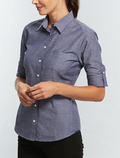 Gloweave Womens Spot Dobby Denim Shirt