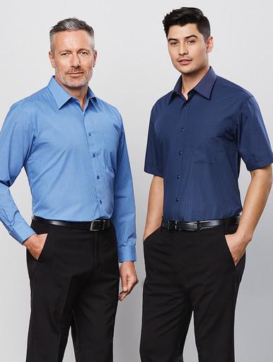 Micro Check Mens L/S Shirt