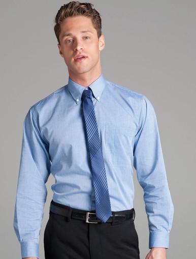 JB's Wear Long Sleeved Fine Chambray Shirt