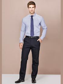 Mens Comfort Wool Adjustable Waist Trouser