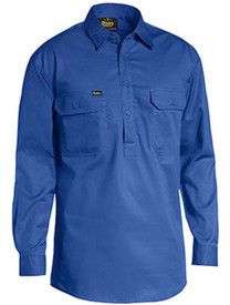 Bisley Closed Front L/S Lightweight Cotton Drill Shirt