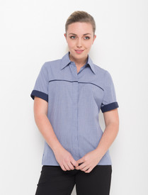 LSJ Ladies 1/2 Sleeve Piping Shirt