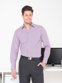 Mens Long Sleeve Lonsdale Plum Check Shirt