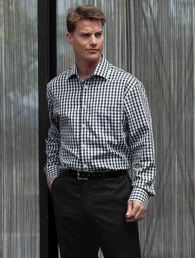 The Hartley Black Check Shirt