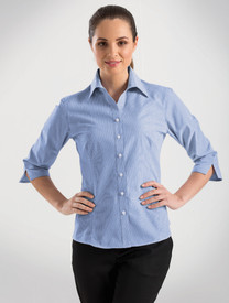 John Kevin Simplicity Stripe 3/4 Sleeve Shirt