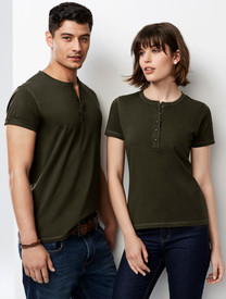 Mens & Ladies Vintage Henley T-Shirt