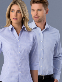Mens & Ladies Slim Fit Dobby Stripe Shirt