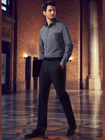 MENS SLIM FIT FLAT FRONT PANT