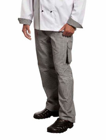 Elasticated  Drawstring Check Cargo Pant