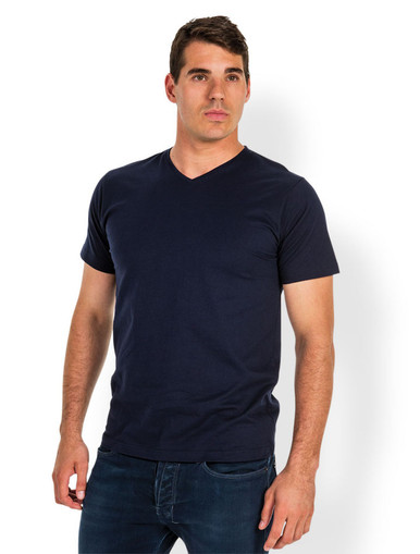 100% Cotton V-Neck T-Shirt