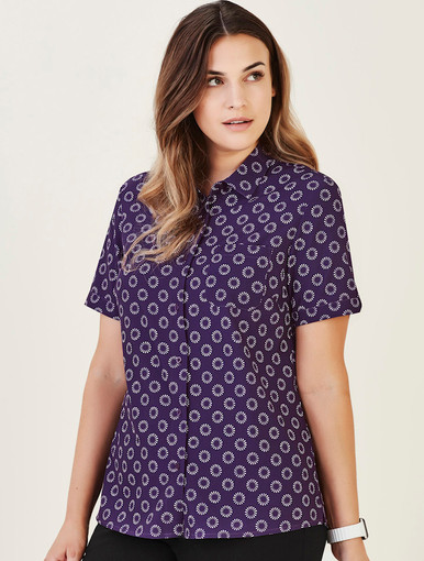 Florence Stretch Daisy Print Shirt